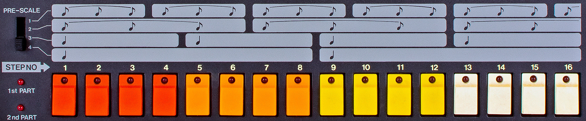 Roland TR-808 Buttons