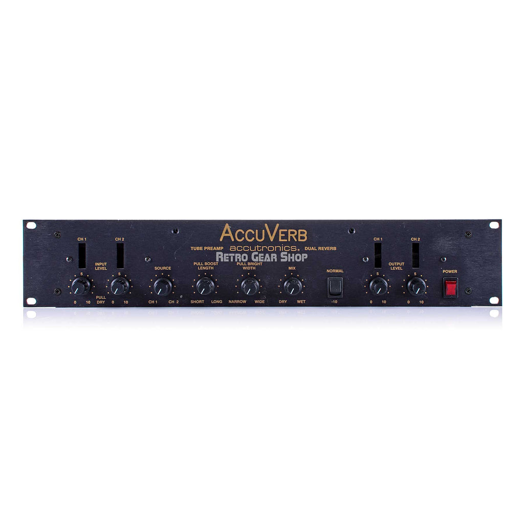 Accutronics Accuverb Tube Preamp Dual Spring Reverb Stereo Effect Rare Vintage