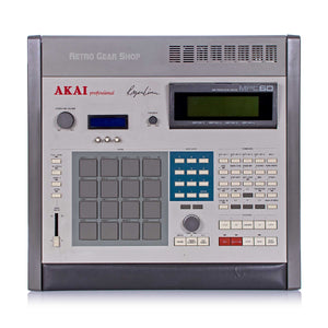Akai MPC60 Mk1 Upgraded Max Ram SD Card Vimana OS 3.15 Rare Vintage Drum Machine Sampler