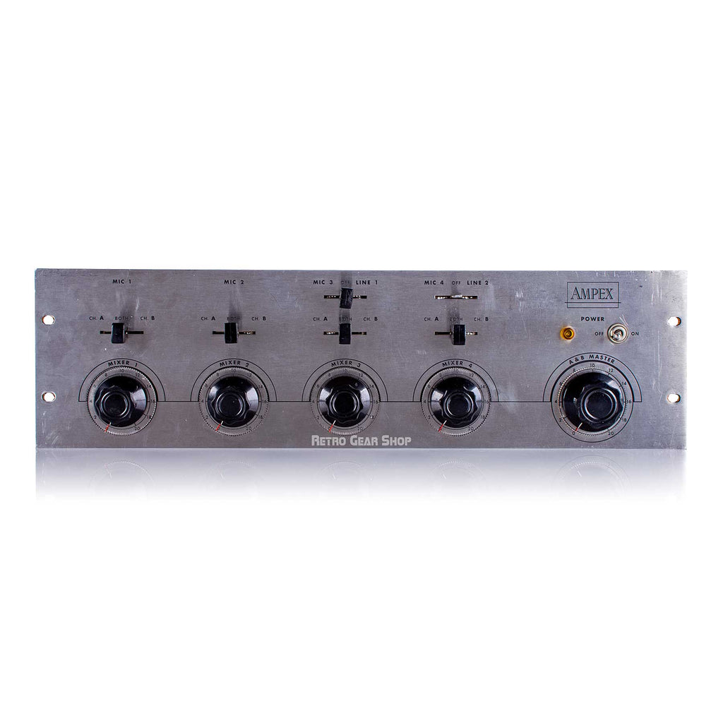 Ampex MX-35 4 Channel Tube Mixer Mic / Line Preamp MX35 Rare Vintage