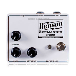 Benson Amps Germanium Solar White Fuzz Guitar Effect Pedal