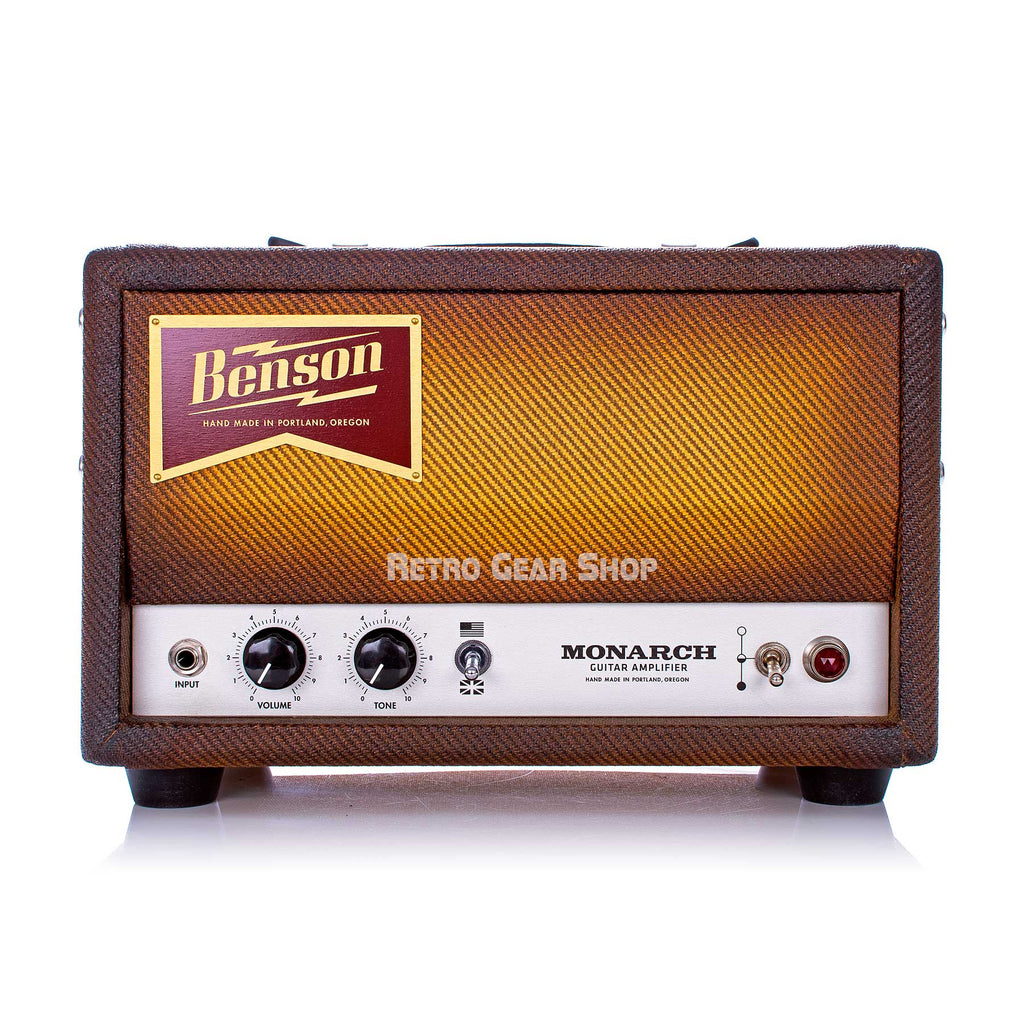Benson Amps Monarch Head Bourbon Burst 15 Watt Guitar Amplifier