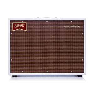 Benson Monarch Reverb Combo 1x12 Custom White Oxblood Guitar Tube Amp