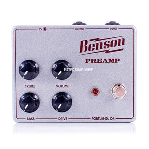 Benson Amps Preamp Silver Sparkle Oxblood Limited Edition Custom Retro Gear Shop