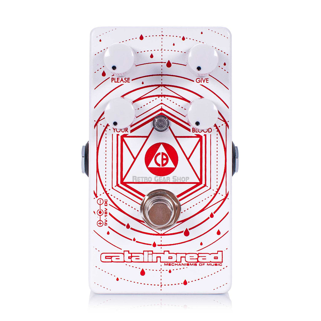 Catalinbread Blood Donor Fuzz Limited Edition White Guitar Effect Pedal