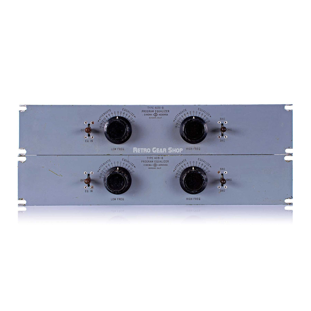 Cinema Engineering Aerovox Type 4031-B Rare Vintage Equalizer Stereo Pair EQ Pultec Langevin Altec