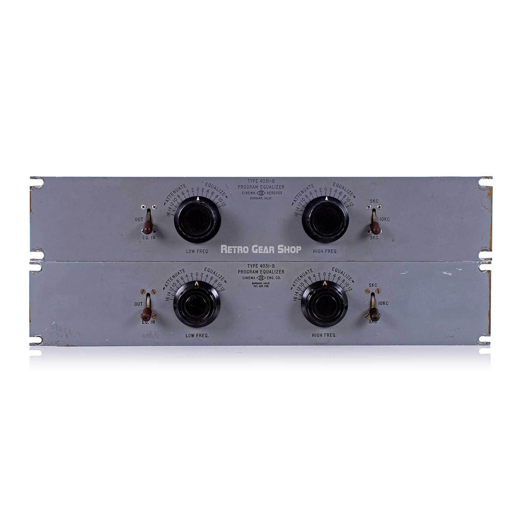 Cinema Engineering Aerovox Type 4301-B Rare Vintage Equalizer Stereo Pair EQ Pultec Langevin Altec