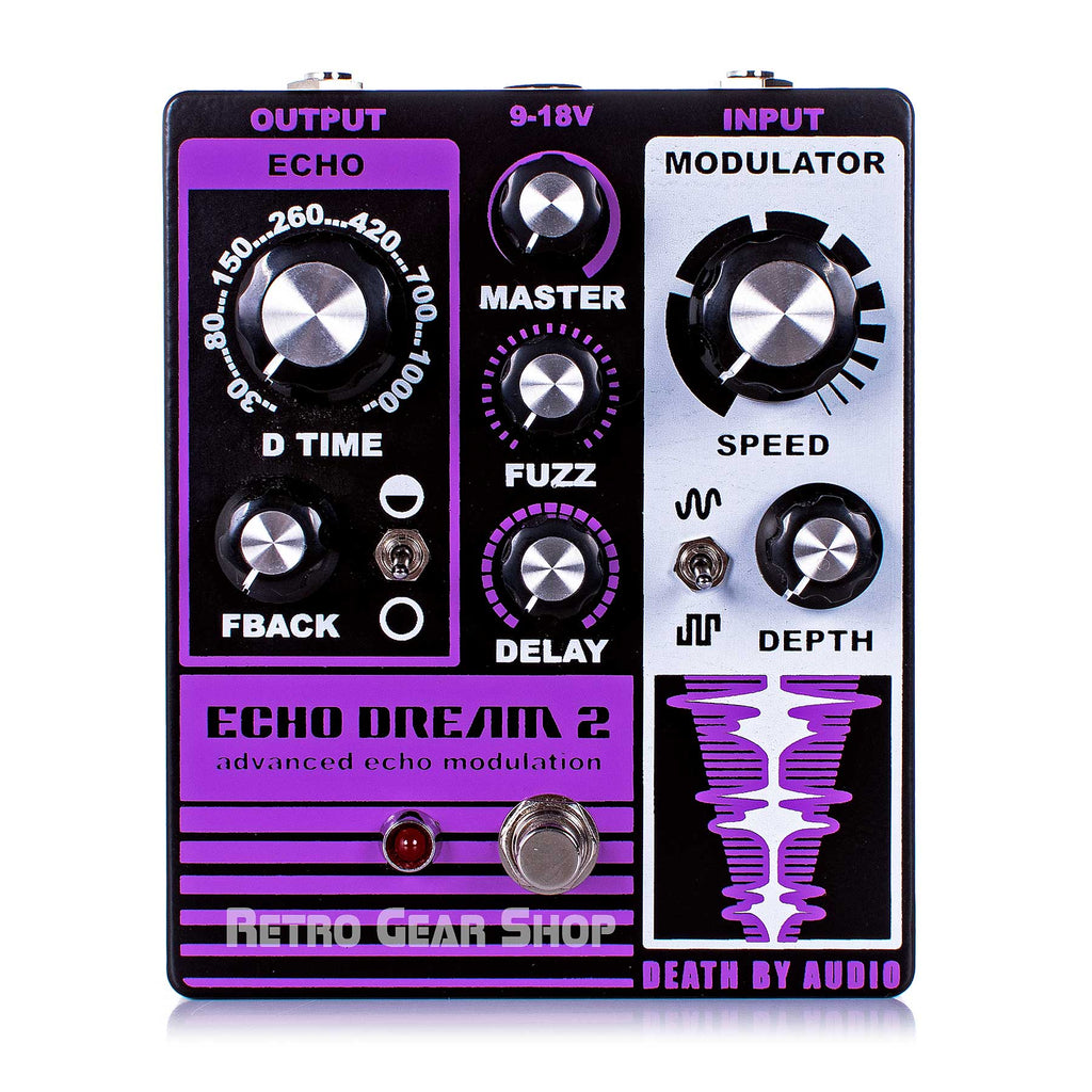 Death By Audio Echo Dream 2 Guitar Effect Pedal Delay Fuzz Modulation