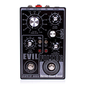 Death By Audio Evil Filter Fuzz Guitar Effect Pedal