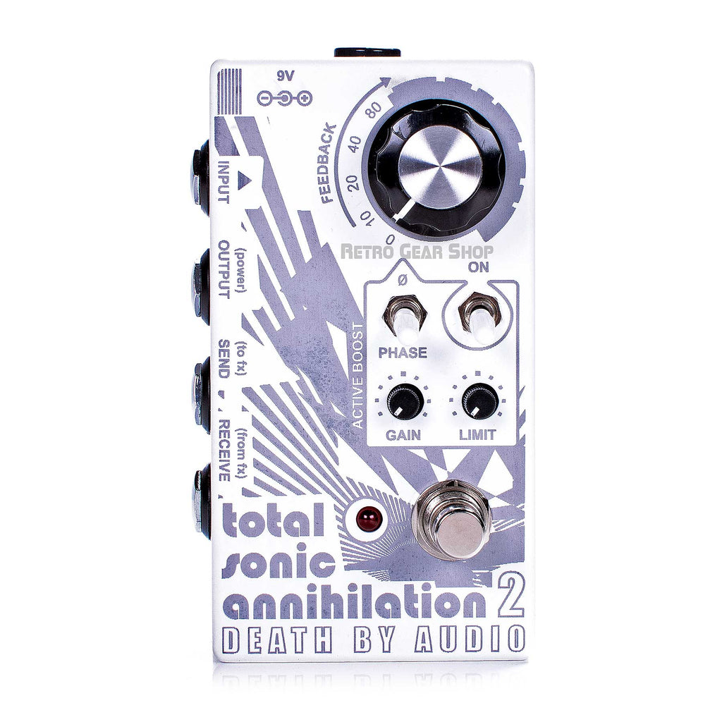 Death By Audio Total Sonic Annihilation 2 Feedback Fuzz Pedal