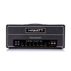 Hiwatt Custom 50 DR504 Rare Vintage Guitar Tube Amp Head Black