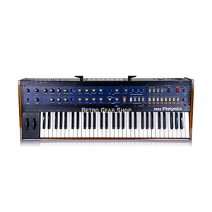 Korg PolySix PS-6 Analog Polyphonic Synth Custom Walnut Case + Kiwisix Midi Mod Overlay Serviced