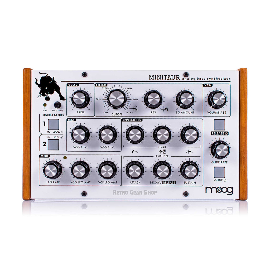 Moog Minitaur Limited Edition White Wood Cheeks Analog Mono Synth