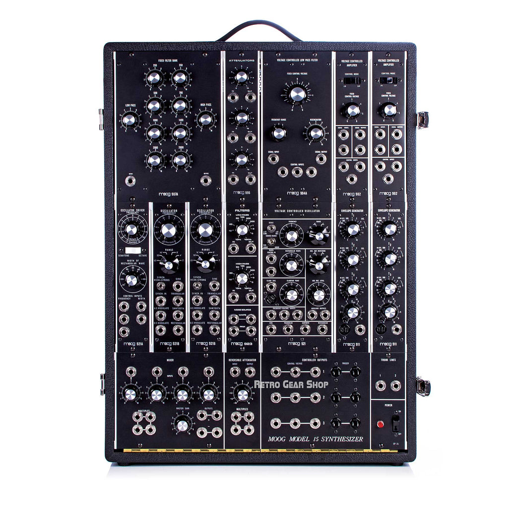 Moog Model 15 Reissue Limited Edition Analog Modular Synthesizer Synth + 953 Duophonic Keyboard