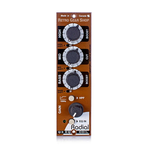 Radial Q3 500 Series 3-Band EQ Module Equalizer