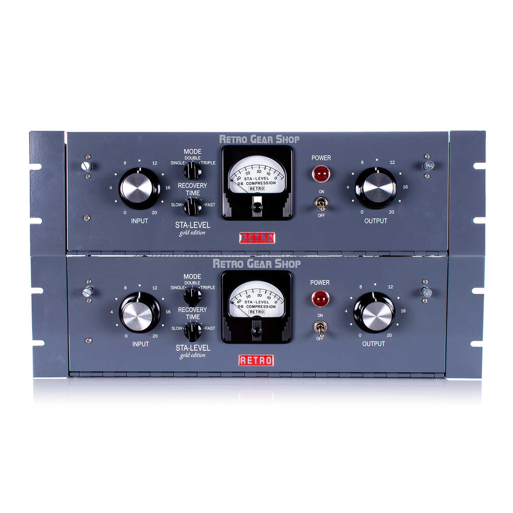 Retro Instruments Sta-Level Tube Compressor Stereo Pair + Link Panel