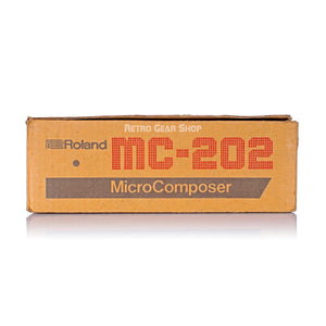 Roland MC-202 Micro Composer Original Box + Tape Cassette + Manuals MC202