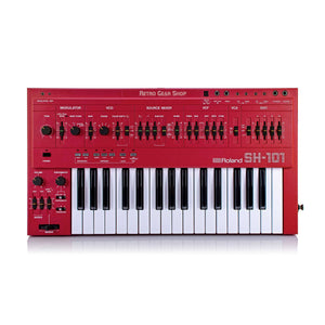 Roland SH-101 Red Serviced Monophonic Analog Synthesizer Rare Vintage Mono Synth SH101 #362106