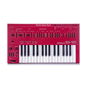 Roland SH-101 Red Serviced Monophonic Analog Synthesizer Rare Vintage Mono Synth SH101