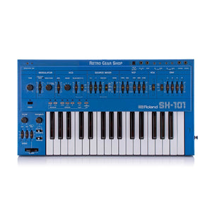 Roland SH-101 Blue + MG-1 Mod Grip Vintage Analog Synthesizer