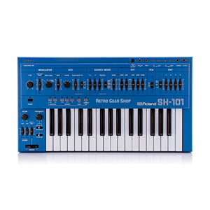 Roland SH-101 Blue + MG-1 Mod Grip Serviced + Cover + Strap Analog Synthesizer Rare Vintage Synth SH101