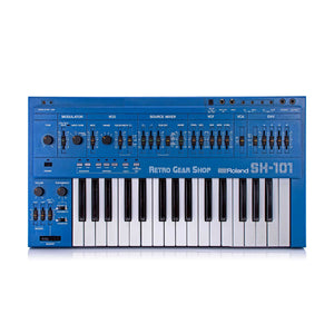 Roland SH-101 Blue + MG-1 Mod Grip Serviced Monophonic Analog Synthesizer Rare Vintage Synth SH101