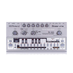 Roland TB-303 TB303 Bassline Rare Vintage Analog Synthesizer Synth Exc with original silver carry gig bag