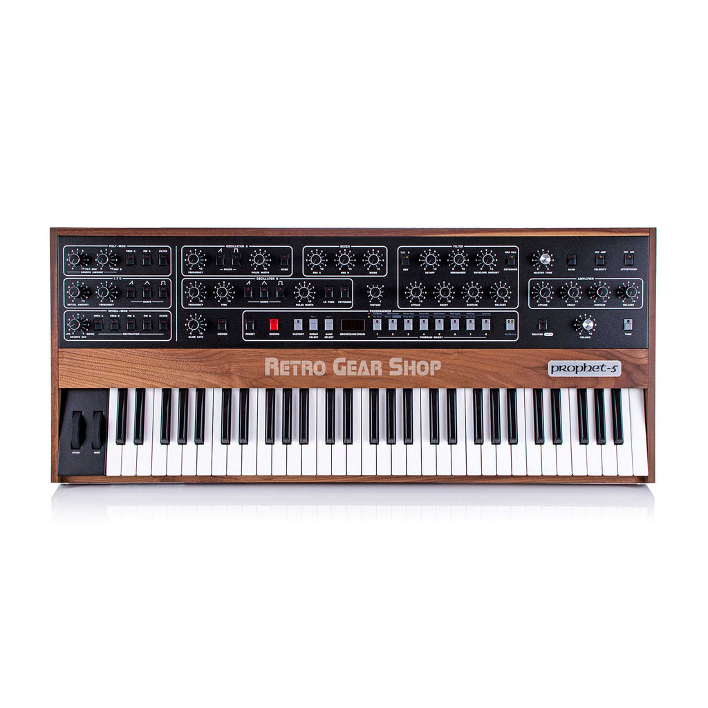 Sequential Circuits Prophet 5 Rev 4 Reissue 61-Key Polyphonic Analog Synthesizer Synth