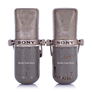 Sony C-37P Fet Condensor Mic Stereo Pair Rare Vintage Microphone C37P