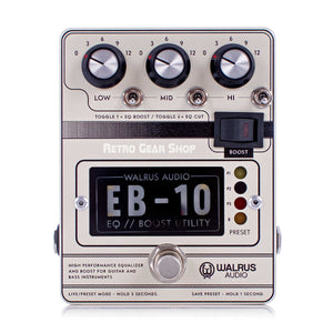 Walrus Audio EB-10 Cream Preamp EQ Boost Guitar Effect Pedal