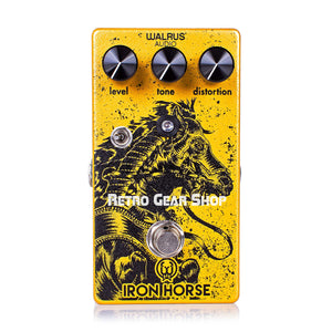 Walrus Audio Iron Horse V2 LM308 Distortion Guitar Effect Pedal
