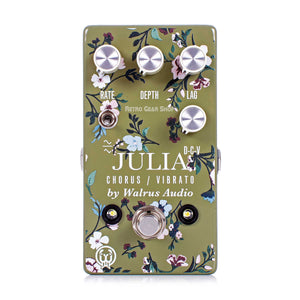 Walrus Audio Julia Analog Chorus/Vibrato Floral Series Guitar Effect Pedal