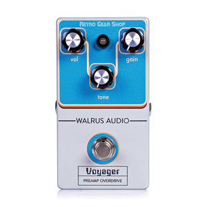Walrus Audio Voyager Preamp Overdrive Black Friday Custom Retro Limited Edition Top
