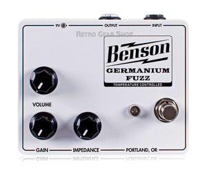 Benson Amps Germanium Solar White Fuzz Top
