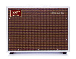 Benson Monarch Reverb Combo 1x12 Custom White Oxblood Front