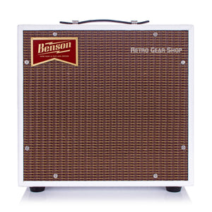 Benson Amps Nathan Junior White Oxblood Front