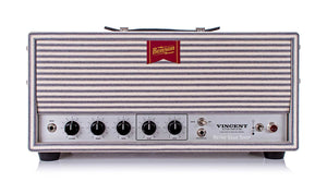 Benson Vincent Head White Classic Striped Front