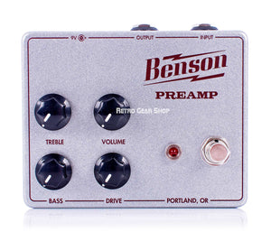 Benson Amps Preamp Silver Sparkle Oxblood Limited Edition Custom Retro Gear Shop Top