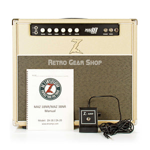 Dr. Z Maz 18 Jr NR 1x12 Combo Blonde Footswitch Manual