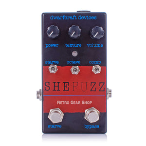 Dwarfcraft Devices SheFuzz Limited Edition Black Red Top