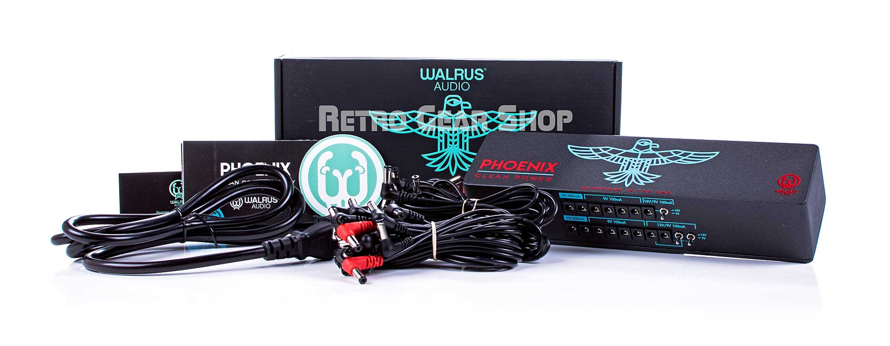 Walrus Audio Phoenix 15-output 120V USA Power Supply Box Cables Extras