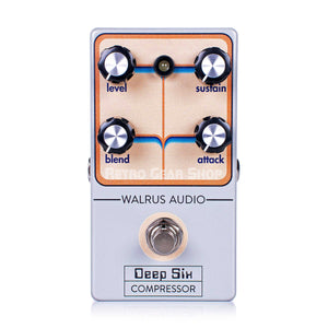 Walrus Audio Deep Six Compressor Custom Retro Limited Edition Top