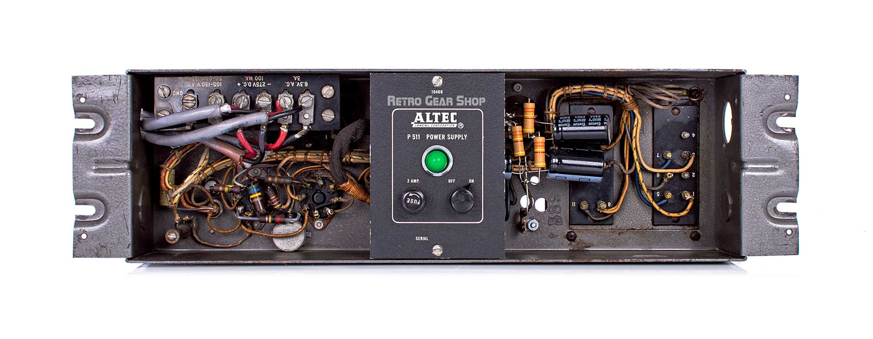 Altec 322C Vintage Limiter Amplifier Tube Compressor P511 Power Supply Internals