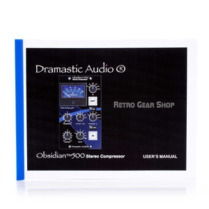 Dramastic Audio Obsidian 500 Manual