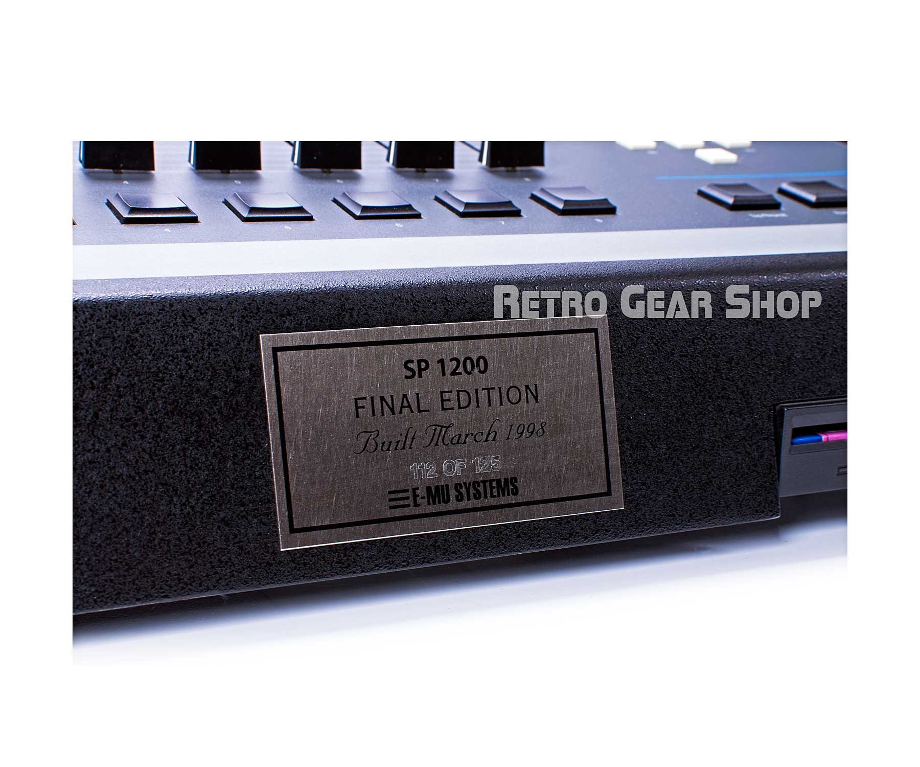 E-Mu SP-1200 Final Edition #112 Plaque