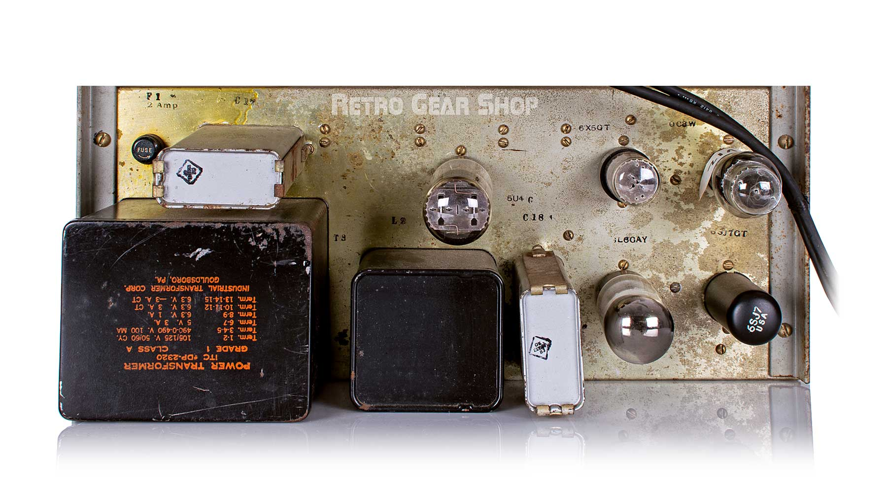 Signal Corps AF Amplifier AM-186A/FR Bottom Rear