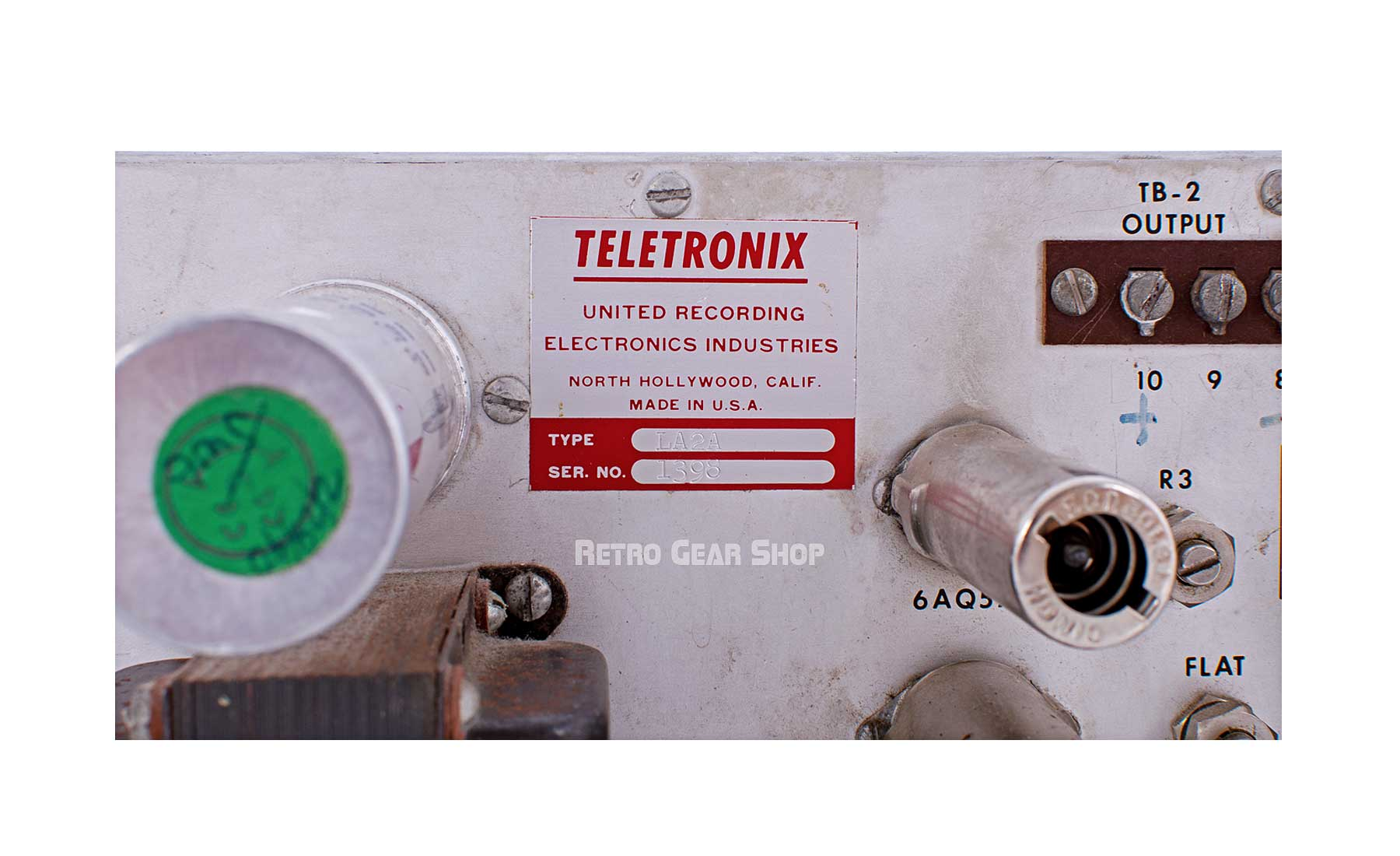 Teletronix LA-2A Leveling Amplifier Vintage Serial Number