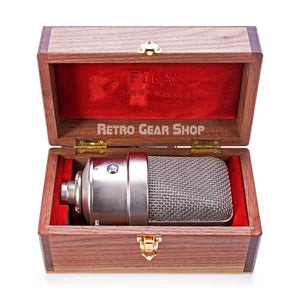 FLEA Microphones 250 Mic Case Wood Box Open