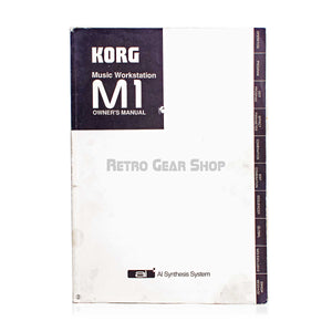 Korg M1 Music Workstation Original Owner's Manual