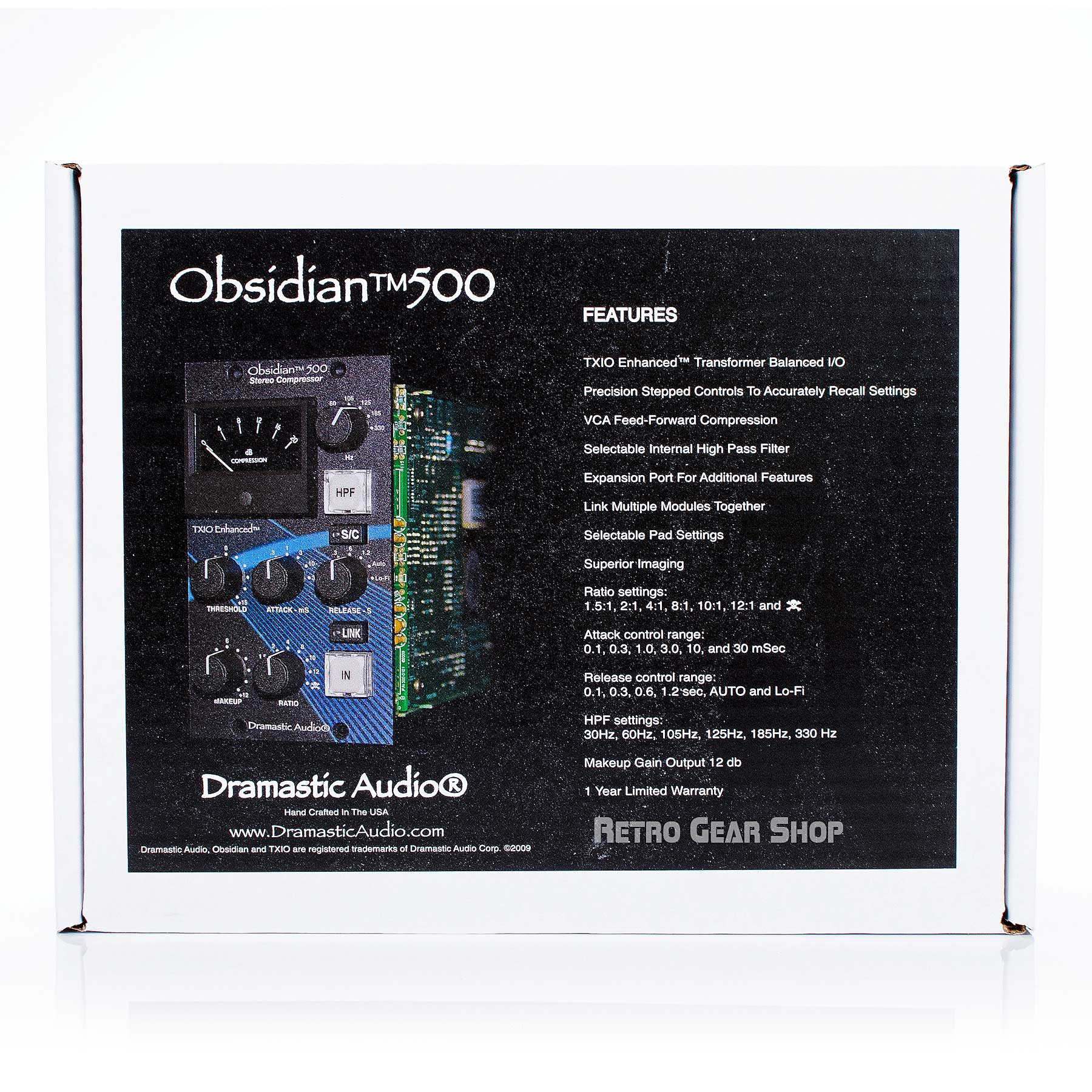 Dramastic Audio Obsidian 500 Box